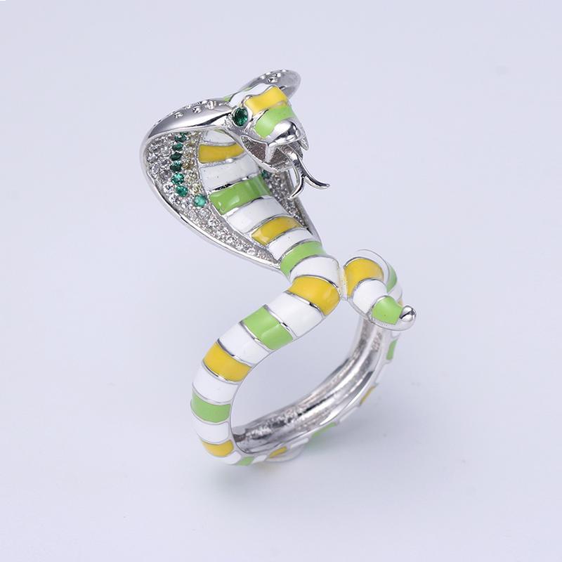 Women Jewelry Set Enamel Snake Jewelry Sets For Girls Animal Pendant Earring Set Romantic Anniversary Jewelry 84454