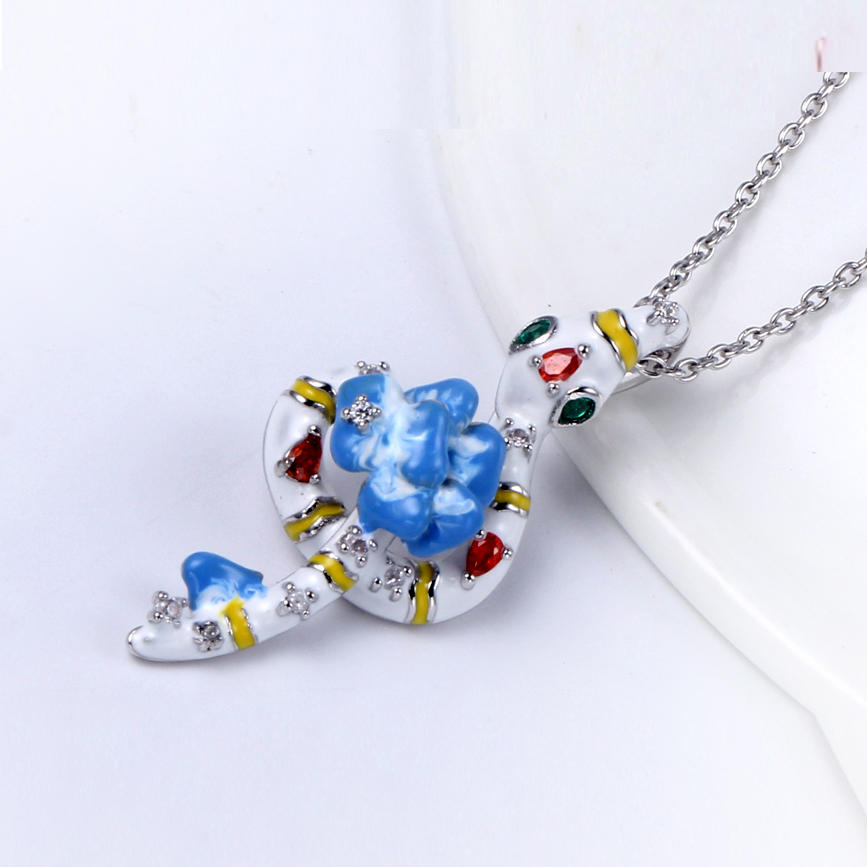 925 Sterling Silver Animal Shape Enamel Jewelry set for women 84457