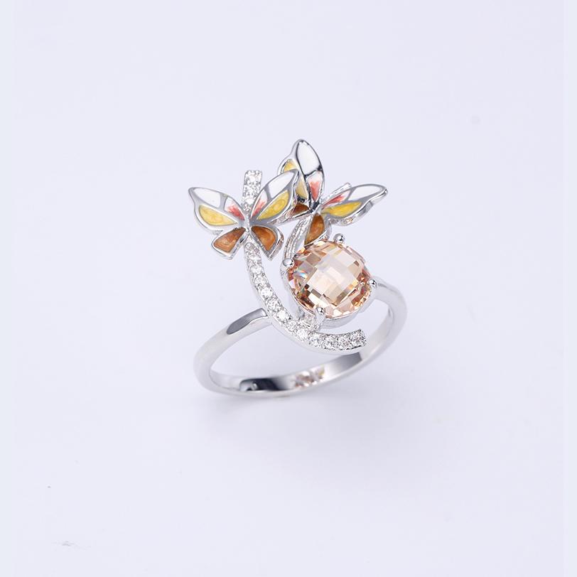 Women Fashion Enamel 925 Sterling Silver Jewelry set Earring/Ring/Pendant 84487