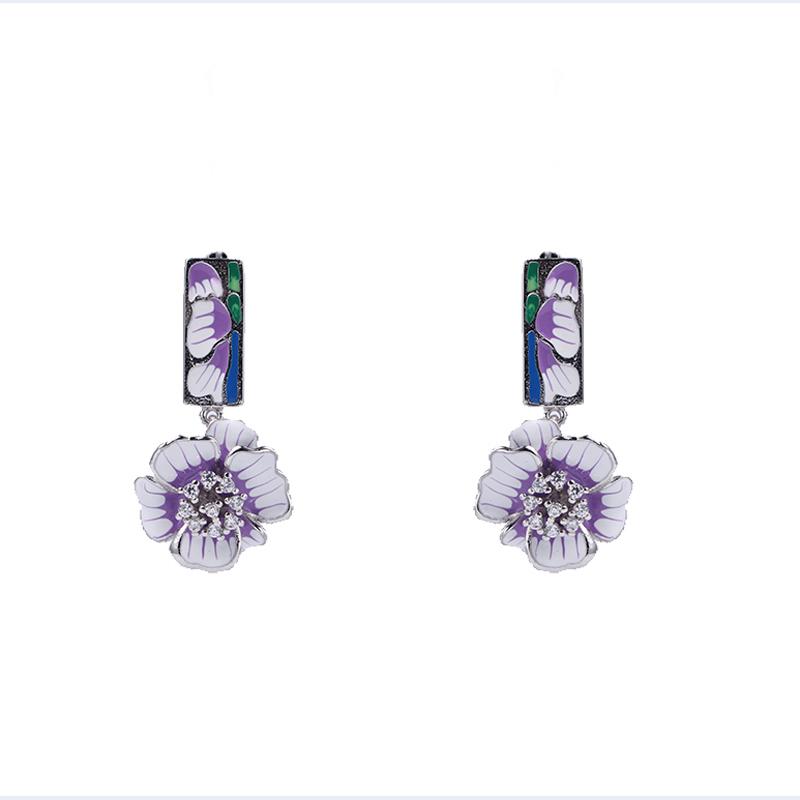 Kirin Jewelry -Bridal Womens New Fashion Jewelry Set Enamel Earring Bracelet Set-1