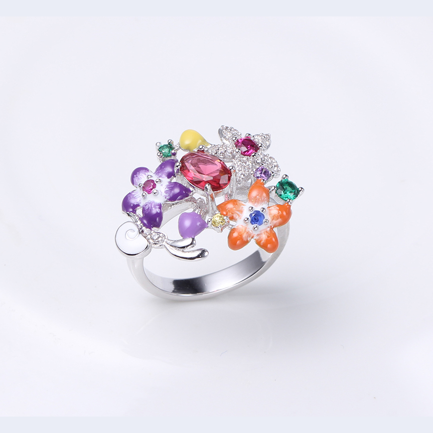 Kirin Jewelry -Womens Necklace And Bracelet Set Manufacture | Flower Shape-1