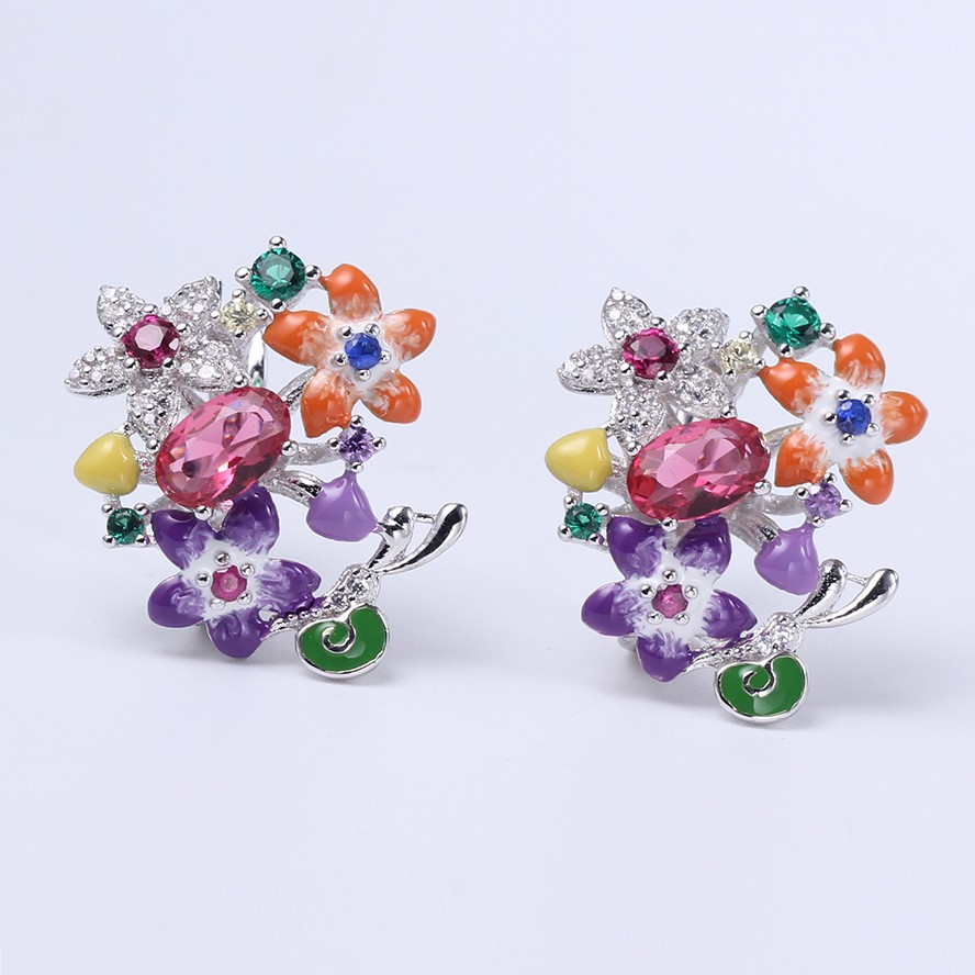 Kirin Jewelry -Womens Necklace And Bracelet Set Manufacture | Flower Shape-2