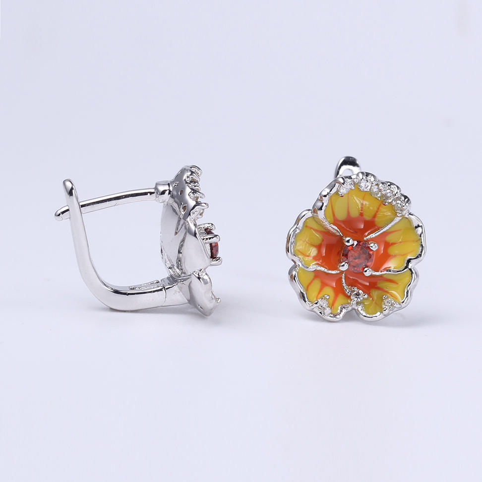 Women Cute 925 Sterling Silver Enamel Jewelry set Earring/Pendant/Ring 84551