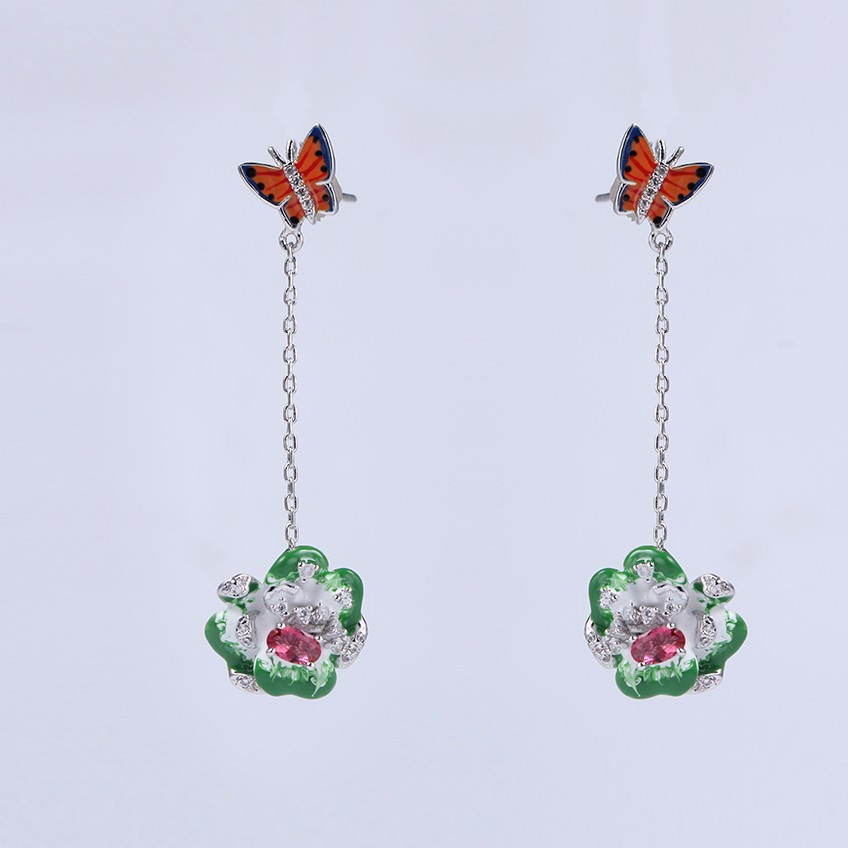 Kirin Jewelry -Earring And Bracelet Set, Wholesale Women Flower Shape Jewelry-2