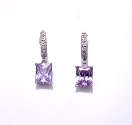 Kirin Jewelry -Jewelry Earrings, 925 Sterling Silver Earrings Cubic Zirconia Party