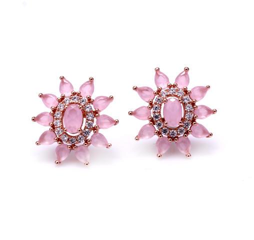 Sweet 925 Sterling Silver Earrings Cubic Zirconia Jewelry For Women Girls 38032