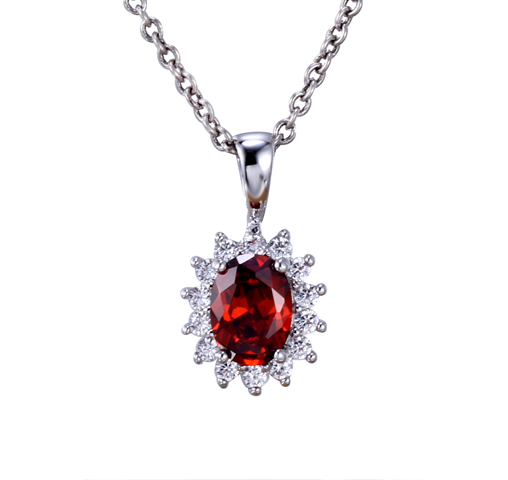Kirin Jewelry -Luxury Women 925 Sterling Silver Pendant Cubic Zirconia Chain