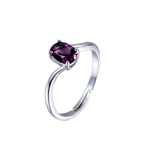 Kirin Jewelry -Find Real Silver Rings For Women Luxury 925 Sterling Silver Purple