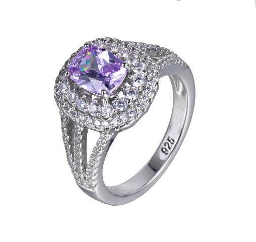 Womens Girls Authentic 925 Sterling Silver Cubic Zirconia Rings Wedding Bands Jewelry 104396