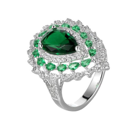 Kirin Jewelry -Find Big Stone Ring Women European 925 Sterling Silver Rings