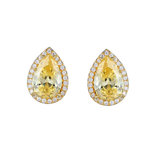 New Arrival Women 925 Sterling Silver Cubic Zirconia Earrings For Wedding Party Anniversary 85551