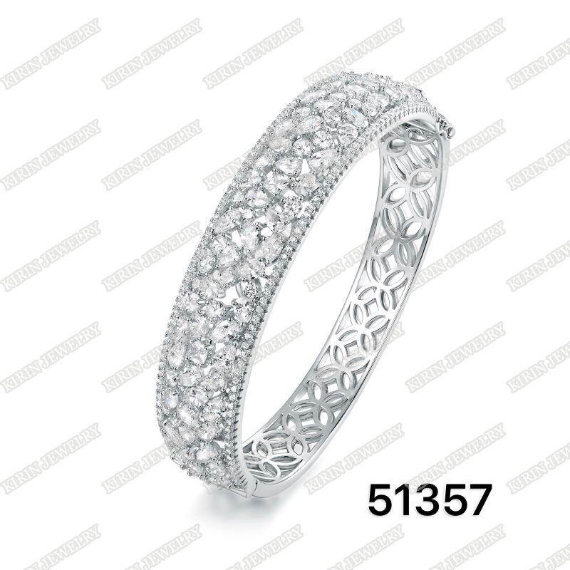 925 Sterling silver bangle with AAA cubic zircon bangle for women 51357
