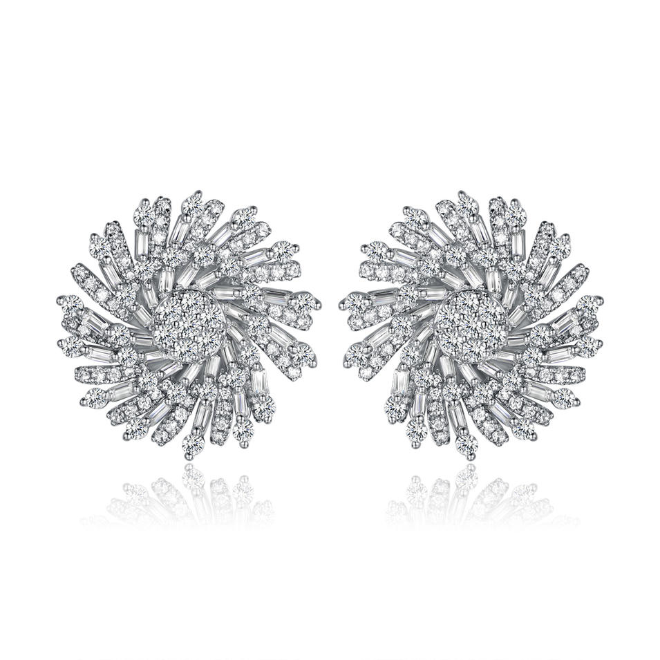 Stud Earrings for Women Jewelry with Cubic Zircon 300417