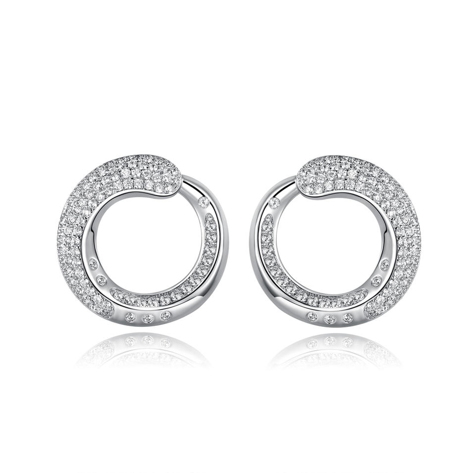 Classical Stud Earrings 925 Sterling Silver Fine Earring Jewelry 300866