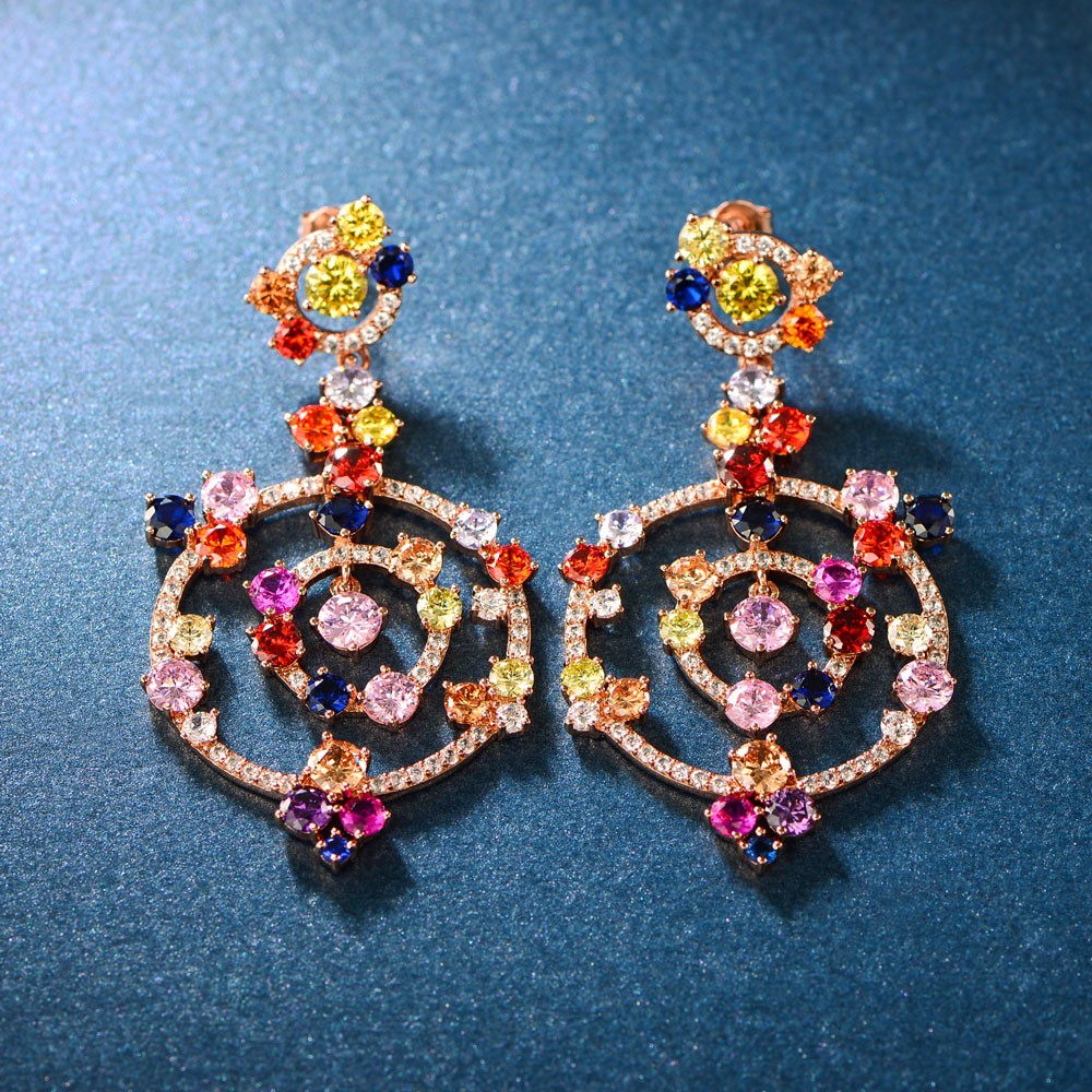 product-Kirin -High Quality Charming New Design Drop Earrings Rose Gold Plating Earrings Jewelry 300