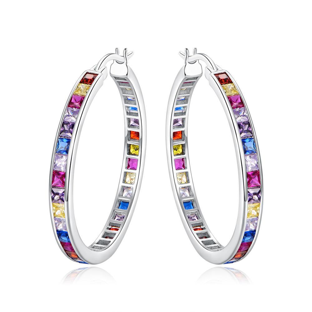 Color CZ Hoop Earrings Fashion Earring for Women 301159