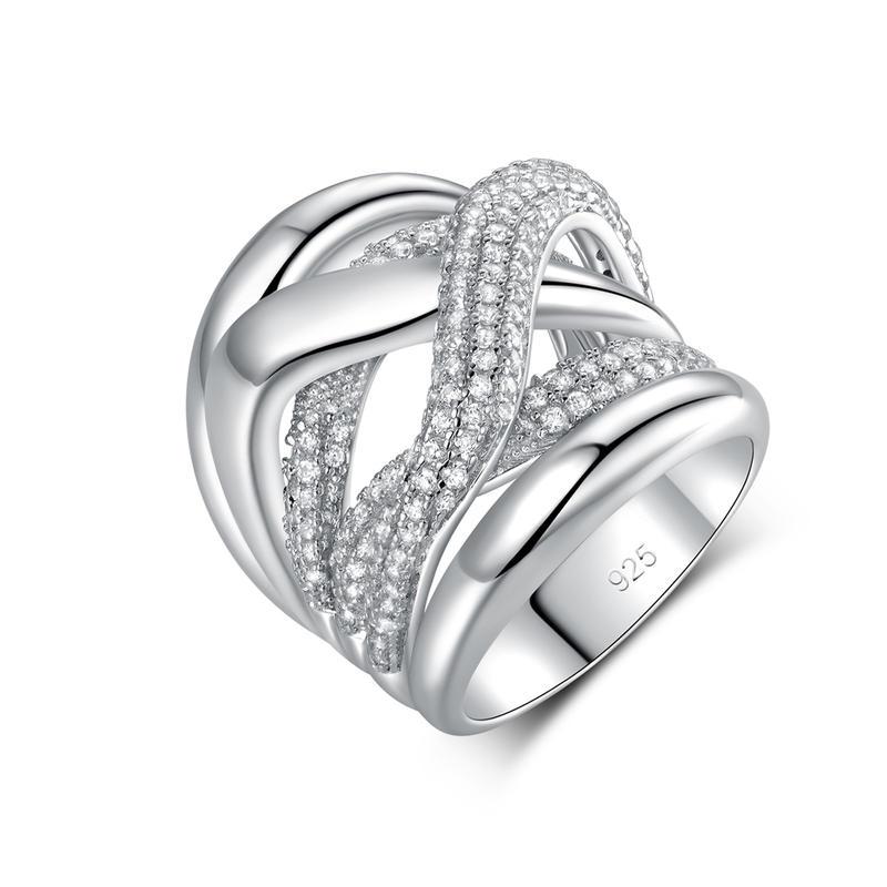 Latest Elegant Design Fashion silver ring 107315