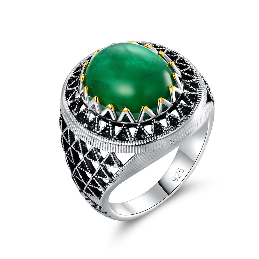 Creative Emerald Ring for Men Women 106620