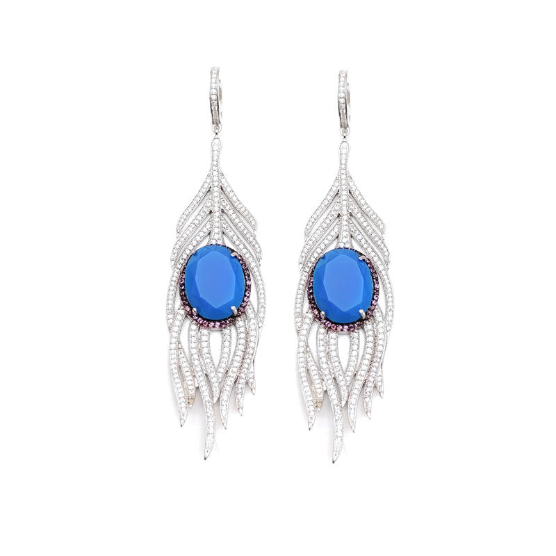 925 Sterling Silver Earrings for Woman Jewelry 80857EW