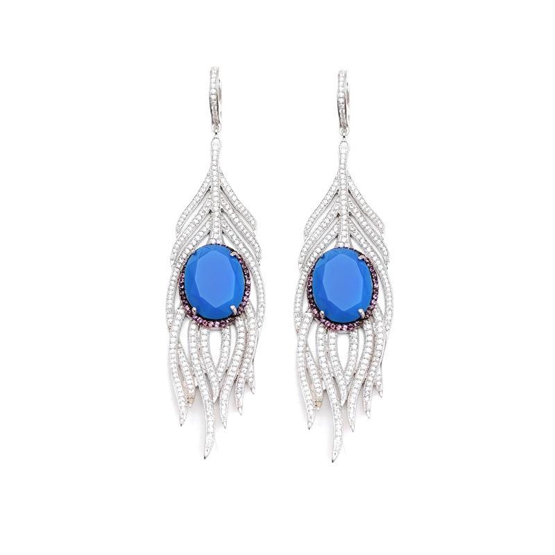 925 Sterling Silver Earrings for Woman Jewelry 80857EW