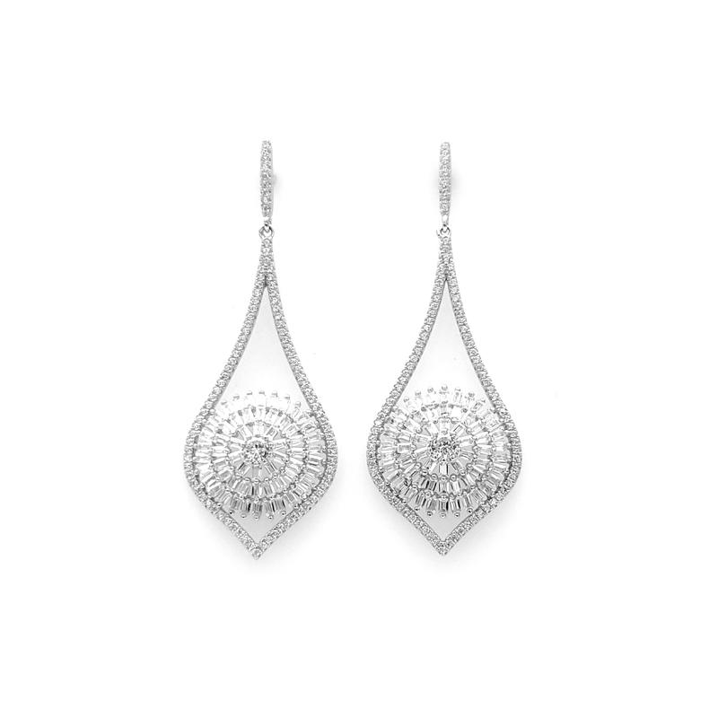 Drop 925 Sterling Silver Earrings for Woman 38521W