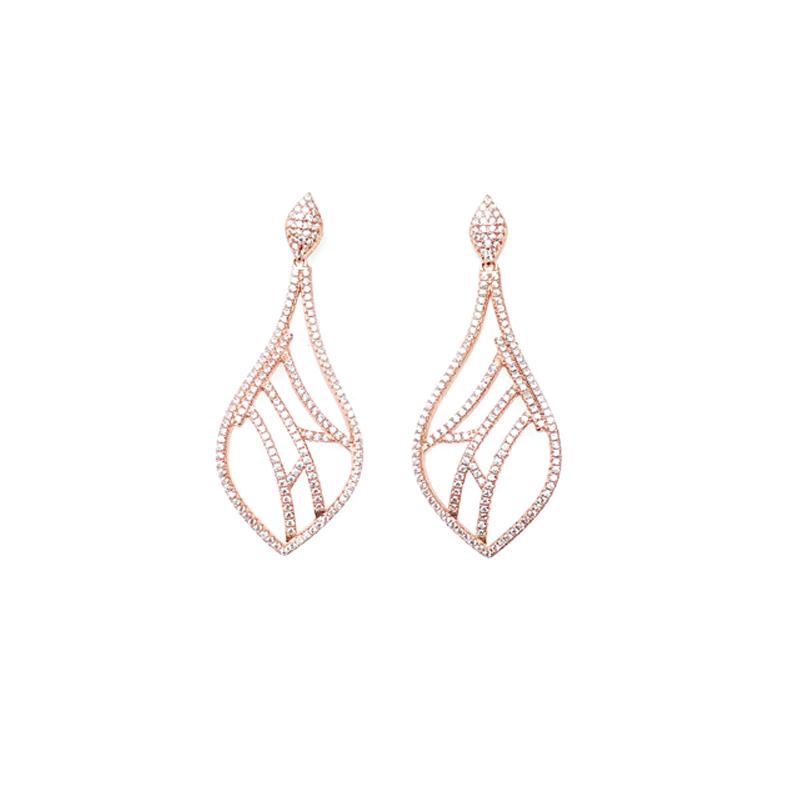 product-Kirin -Drop 925 Sterling Silver Earrings for Woman 34750W-img