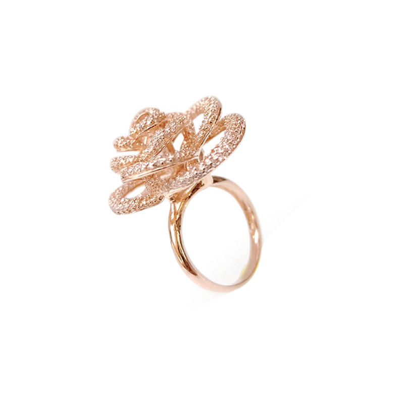 Flower 925 Sterling Silver Ring for Woman 14602