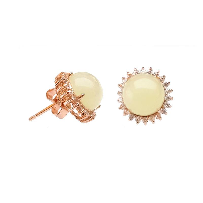 Charm 925 Sterling Silver Earrings for Woman 81064E