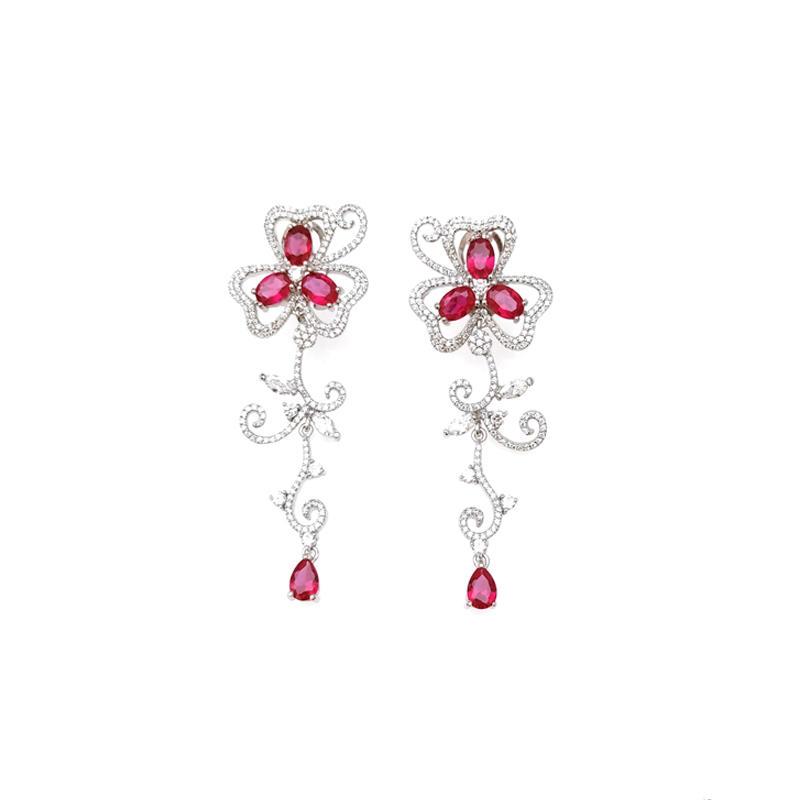 Drop 925 Sterling Silver Earrings for Woman 33417