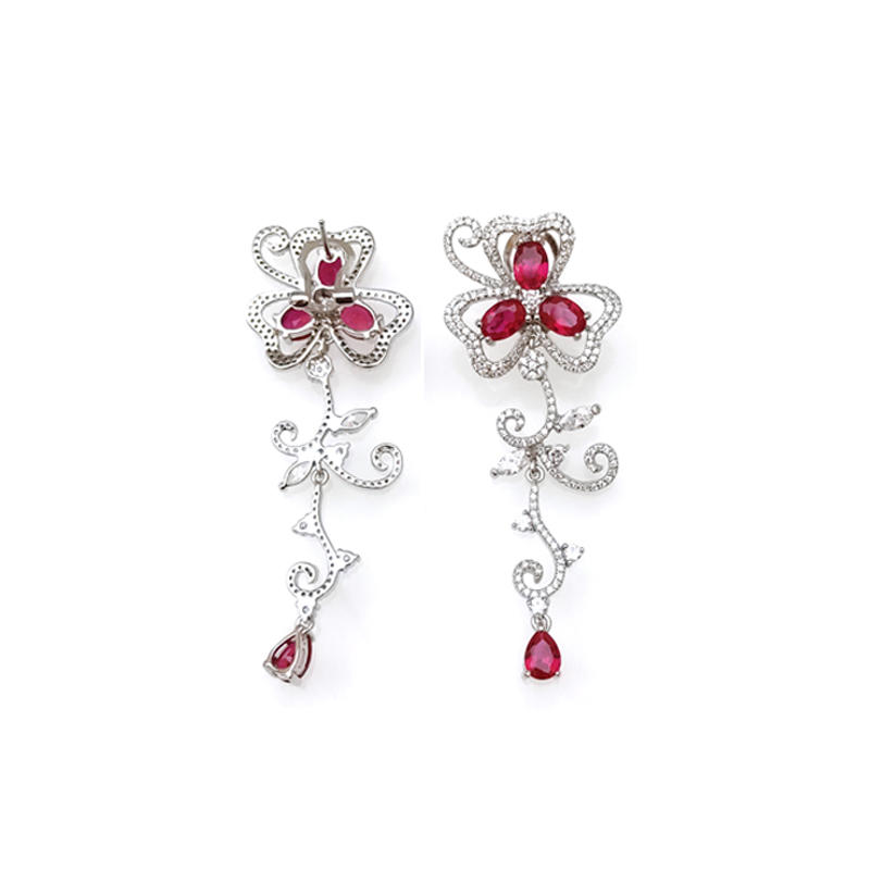 Drop 925 Sterling Silver Earrings for Woman 33417