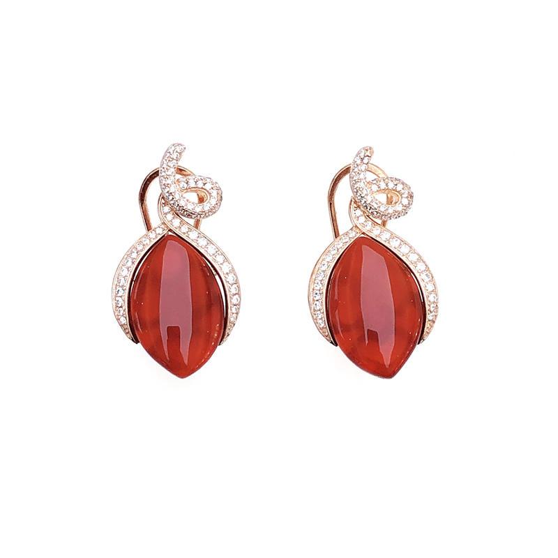 Elegant 925 Sterling Silver Earrings for Woman 60013AE