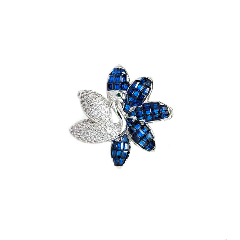 Flower Invisible 925 Sterling Silver Brooch for Woman 40381W-1