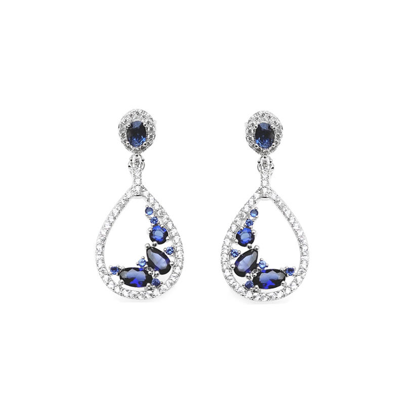 Stylish 925 Sterling Silver Earrings for Woman 86696EW