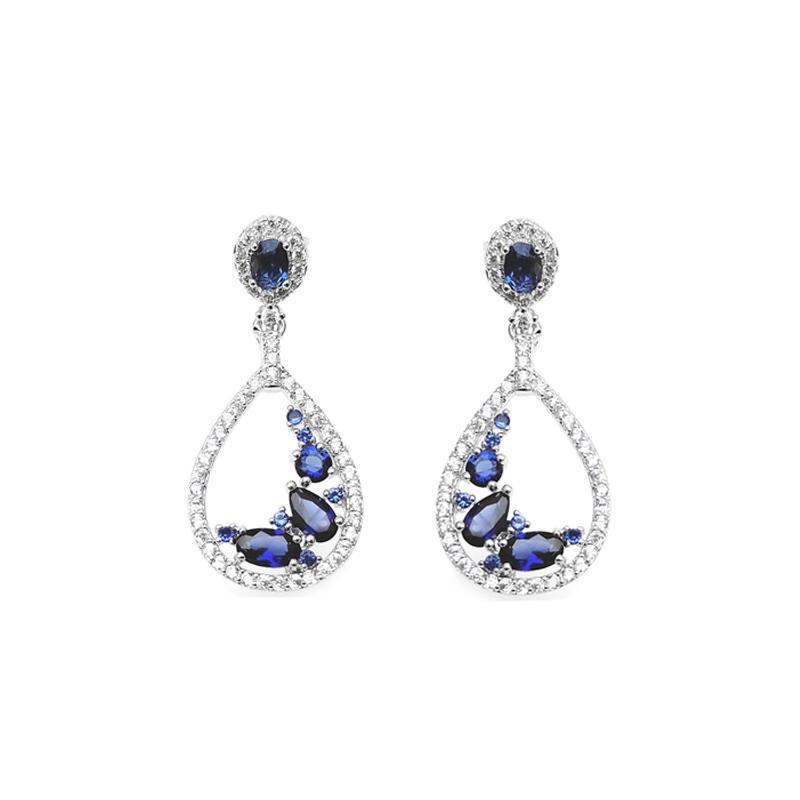 Stylish 925 Sterling Silver Earrings for Woman 86696EW