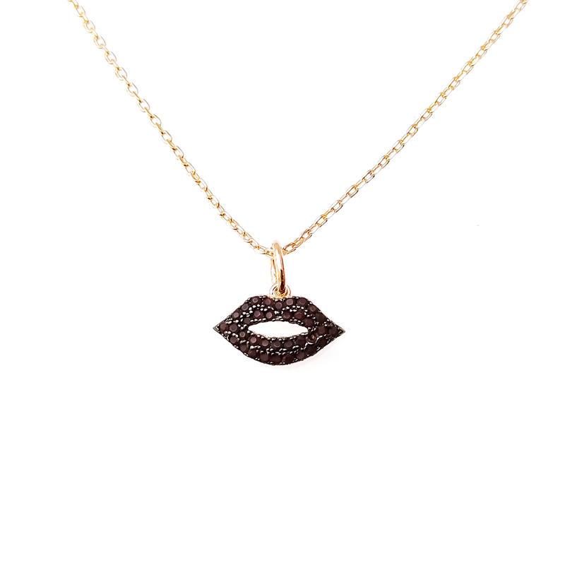 Fancy Lip 925 Sterling Silver Pendant for Woman 28643