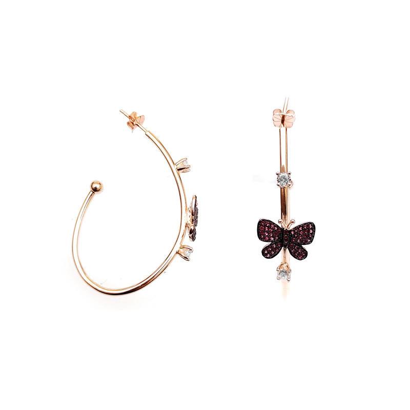 Butterfly 925 Sterling Silver Earrings for Woman 83565EW