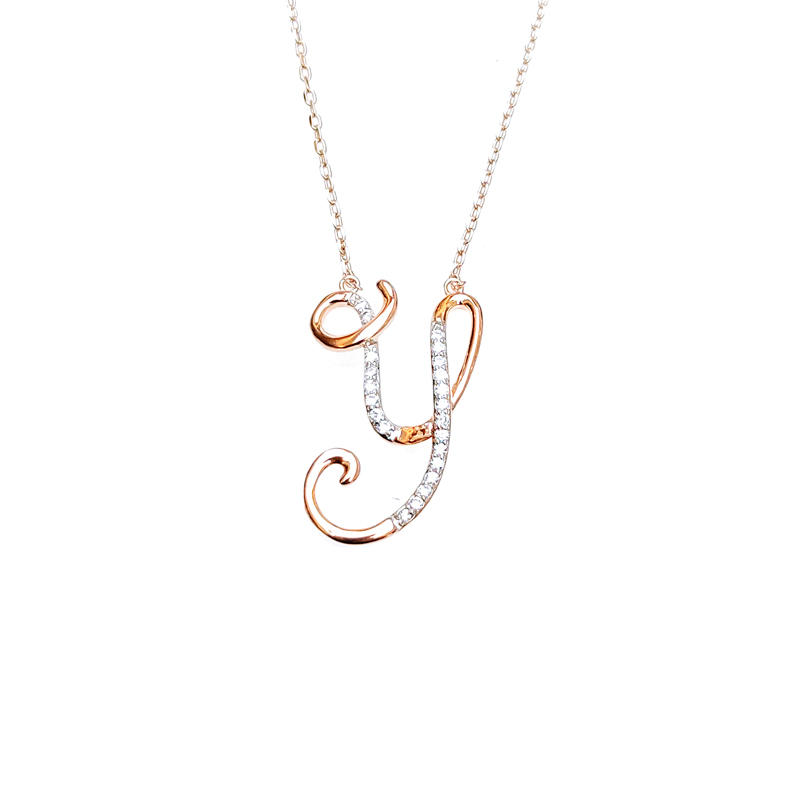 Charm Letter 925 Sterling Silver Pendant for Woman 28480