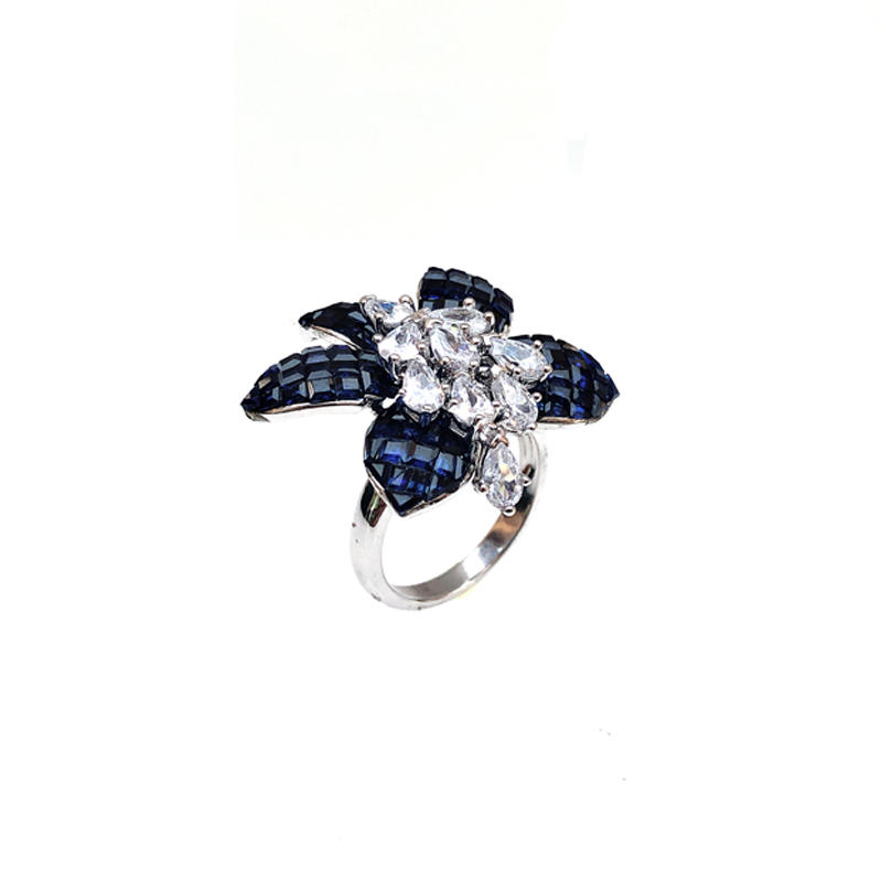 Invisible Flower 925 Sterling Silver Ring for Woman 86417RW