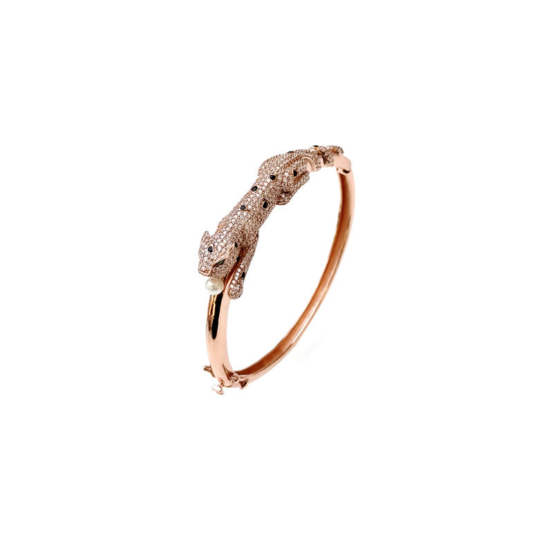 Leopard 925 Sterling Silver Bangle for Woman 50236