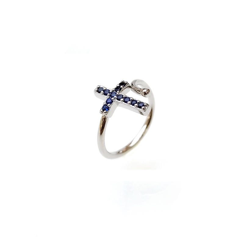 Cross 925 Sterling Silver Ring for Woman 19229