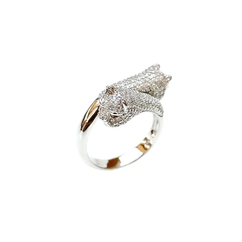 Wild Leopard 925 Sterling Silver Rings for Woman 14631