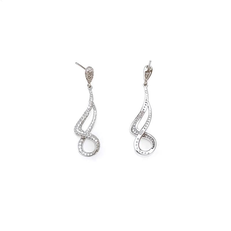 Solid 925 Sterling Silver Earrings for Woman 33570W