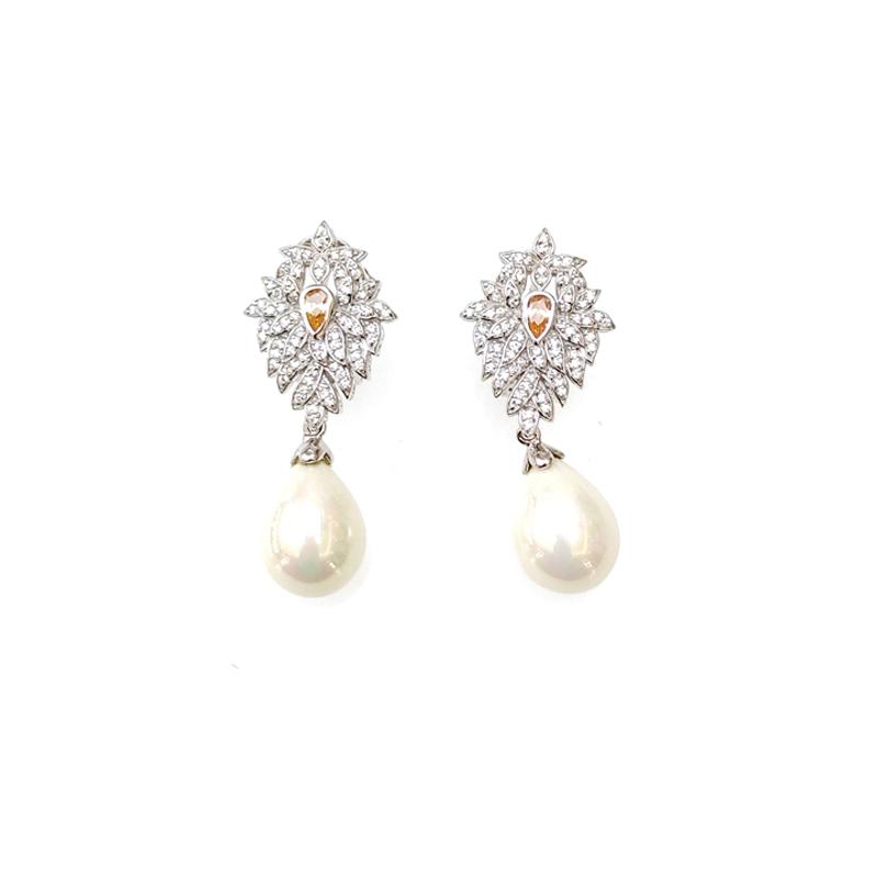 product-925 Sterling Silver Pearl Earrings for Woman 33265-Kirin -img
