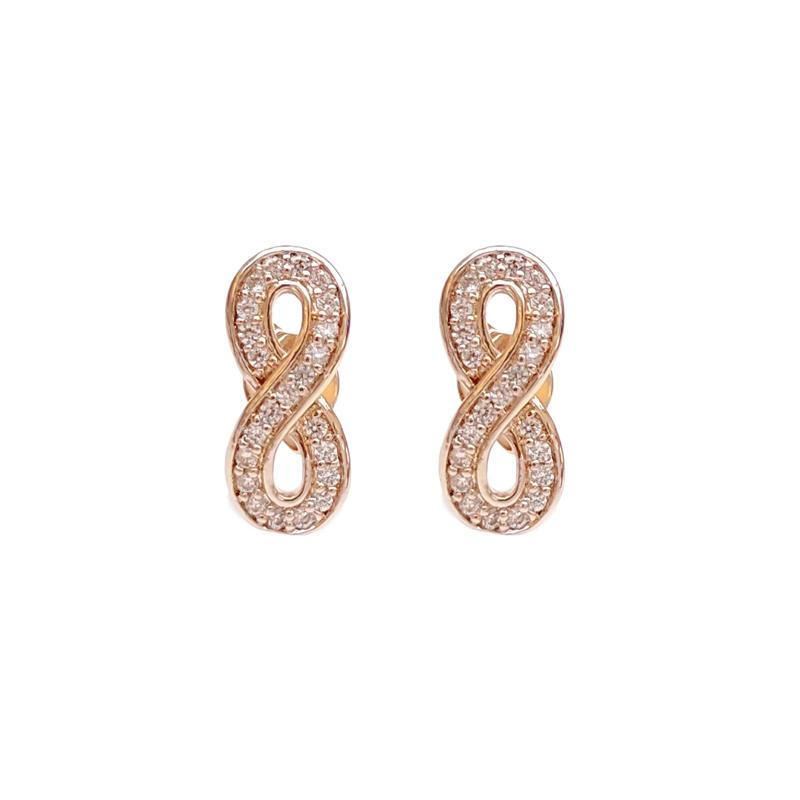 925 Sterling Silver Infinite Earrings for Woman 84989EW
