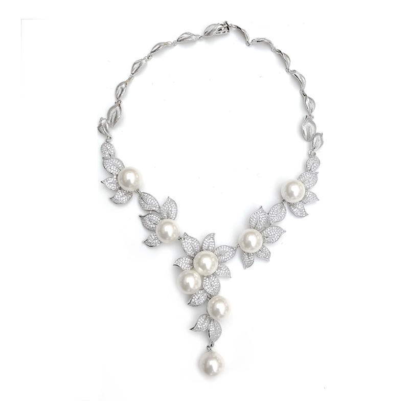 Elegant 925 Sterling Silver Necklace for Woman 80112NW