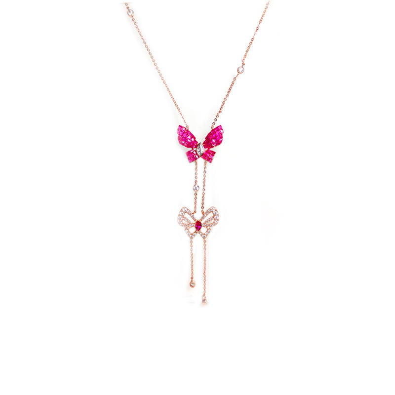 Butterfly 925 Sterling Silver Necklaces for Woman 86430NW