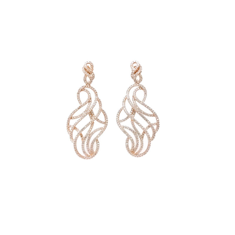 Custom 925 Sterling Silver Earrings for Woman 34672