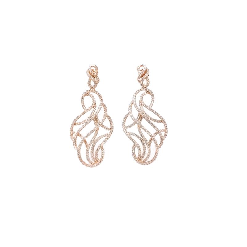 product-Custom 925 Sterling Silver Earrings for Woman 34672-Kirin -img