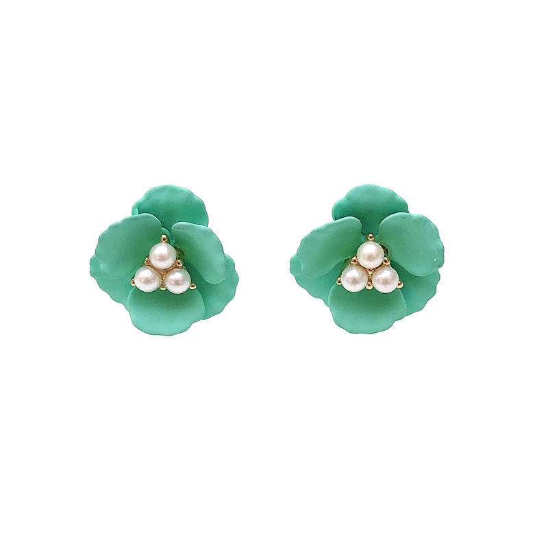 Special Flower 925 Sterling Silver Pearl Earrings for Woman 37262