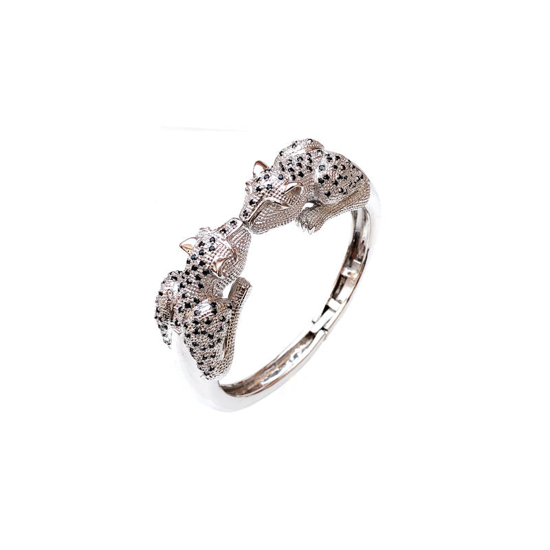 Wild Leopard 925 Sterling Silver Bangle for Woman 50268